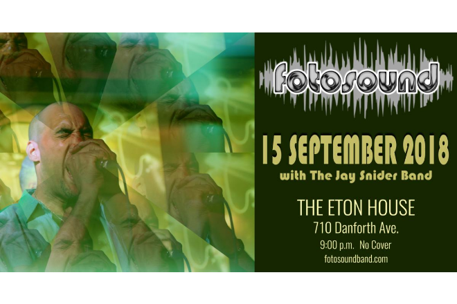 Upcoming Show: Sept 15th at the Eton House